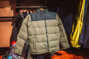 Patagonia - great camp jackets made with durable exterior and recycled down fill