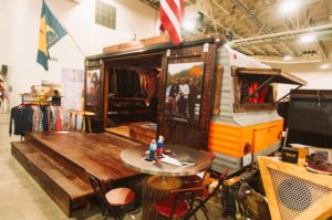 The Normal Brand repurposing a vintage trailer for their booth