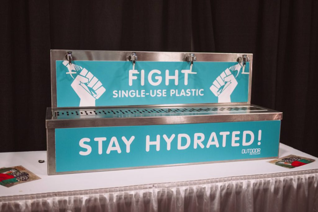 single use plastic is bullshit, good work Outdoor Retailer