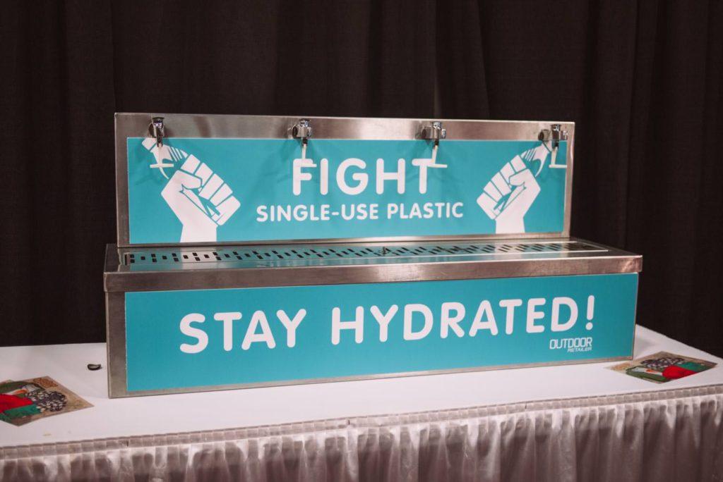 single use plastic is bullshit, good work Outdoor Retailer