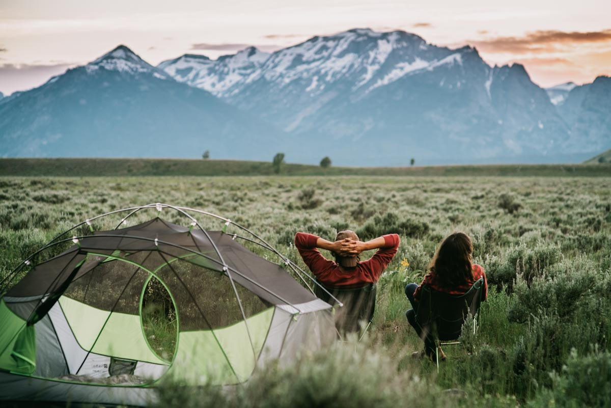 Taking in the views from Gros Ventre Campground in Grand Teton Natl Park, WY