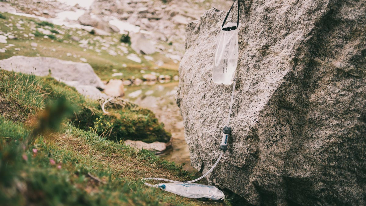 Filtering water is as simple as hanging and waiting