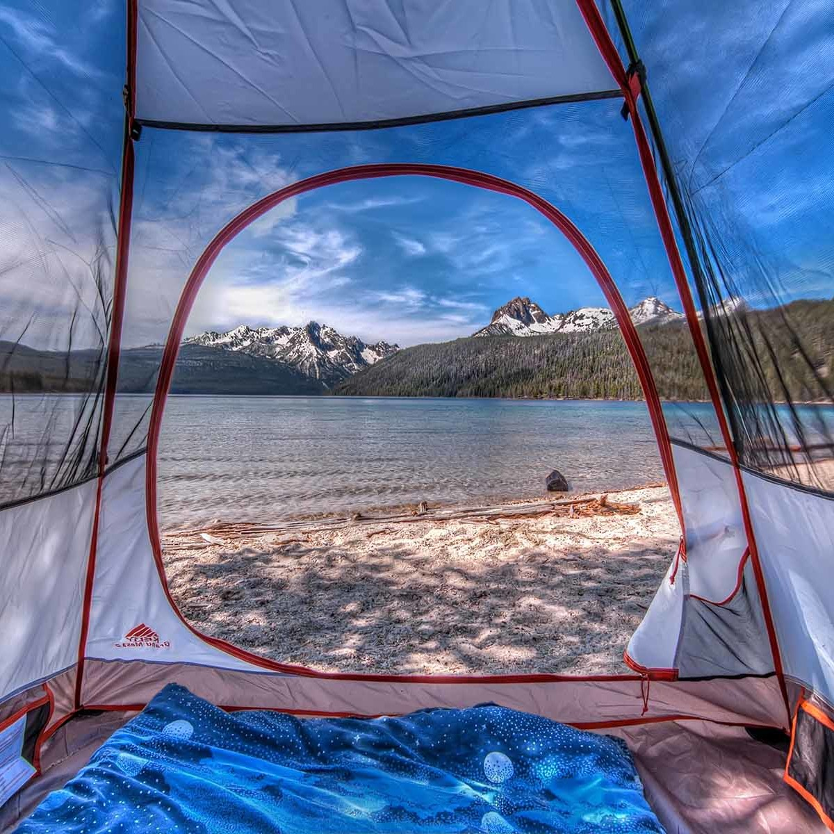 Vincent Anzalone - Tentview on Redfish Lake_CampTrend